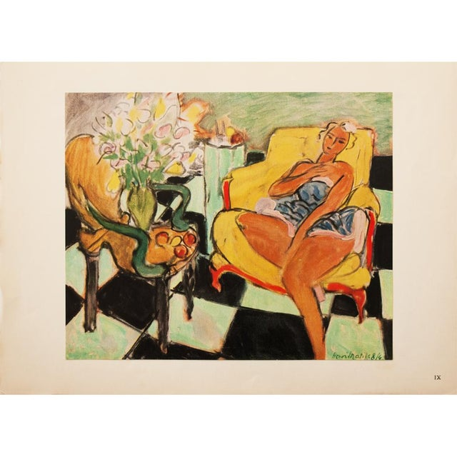"""Green 1946 Henri Matisse, """"Dancer Seated on a Chair"""" Original Period Parisian Lithograph For Sale - Image 8 of 8"""