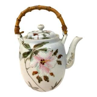 Antique Porcelain Victorian Teapot For Sale