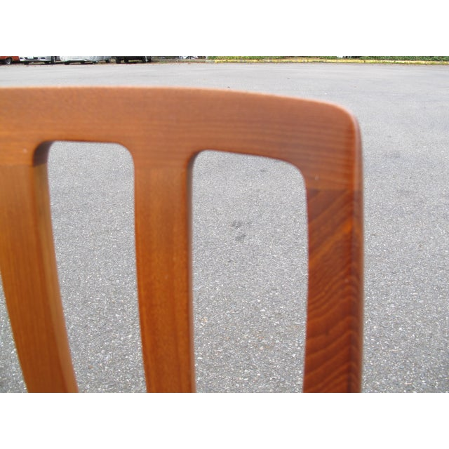 Contemporary 1970s Vintage Danish Modern Teak Moller 83 Dining Chairs- Set of 6 For Sale - Image 3 of 7