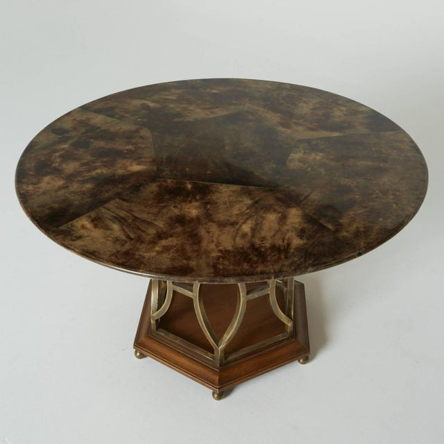 Lacquered Goatskin Dining Table by Aldo Tura - Image 2 of 4
