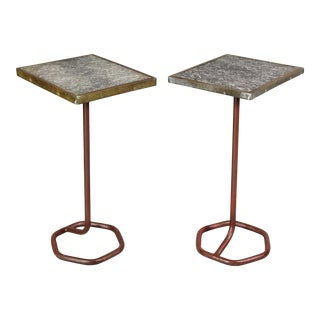 French Art Deco Cafe Tables by Cre-Rossi - a Pair For Sale