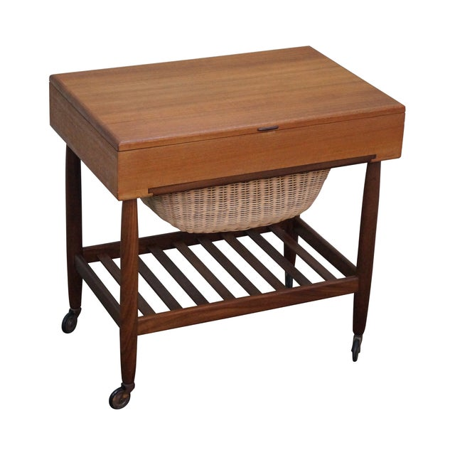 Vitre Vintage Danish Modern Teak Sewing Cart - Image 1 of 10