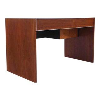 Hidden File Drawer Glenn California Mid Century Modern Walnut Writing Table Desk For Sale