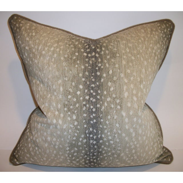 Woven Antelope Pillows with Mohair - A Pair - Image 2 of 5