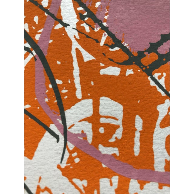 """Abstract 1970s Abstract Silkscreen """"Orange Slices"""" For Sale - Image 3 of 7"""