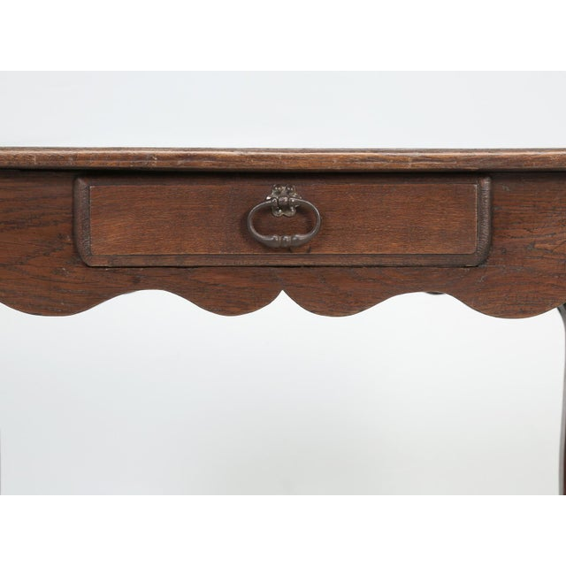 Brown French Louis XV Style Ladies Writing Desk For Sale - Image 8 of 11
