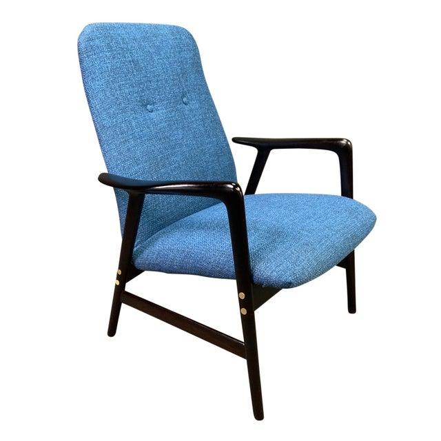 Mid Century Vintage Alf Svensson for Dux Scandinavian Lounge Chair For Sale - Image 11 of 11