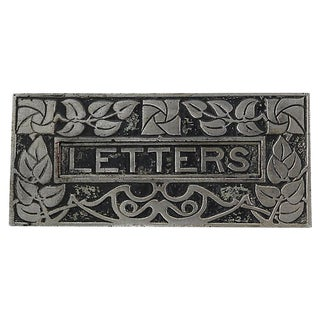 Antique Art Nouveau Letter Slot Door Plate For Sale