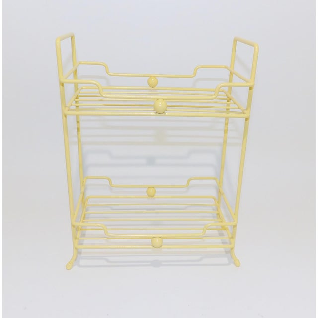 20th Century Comtemporary Yellow Strawflower Metal Rack For Sale In Sacramento - Image 6 of 6