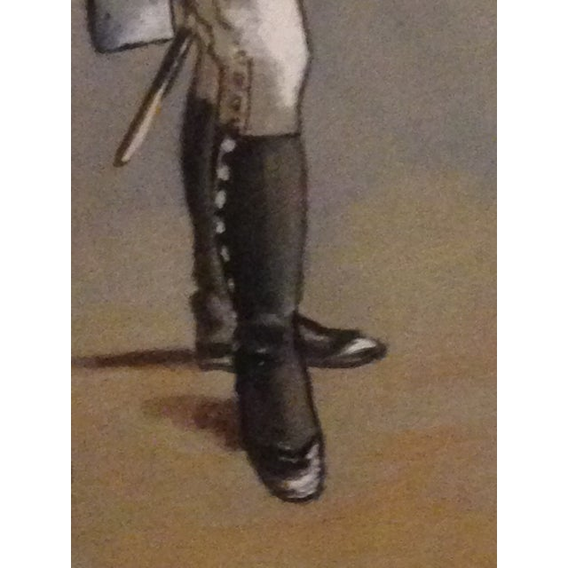 1890s Military Man Gouache Painting - Image 5 of 6