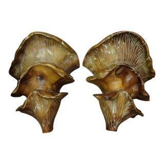Mid-Century Italian Organic Modern Carved Wood Sconces-A Pair For Sale