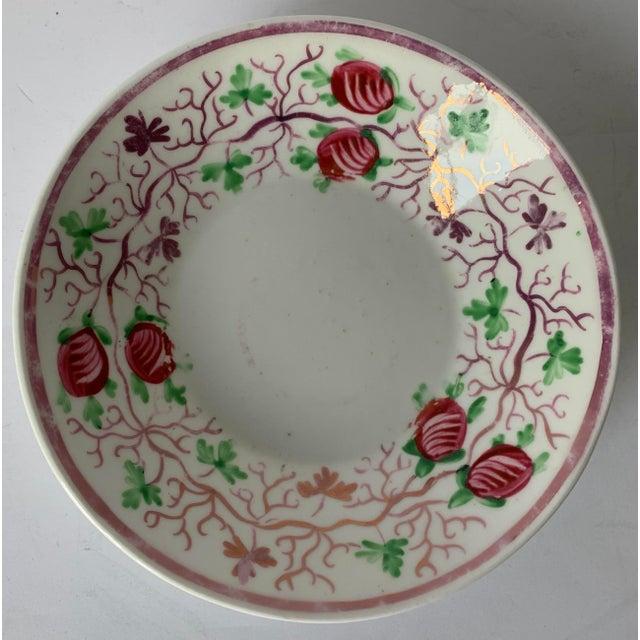 English Antique English Lustreware Berry Motif Trinket Dish For Sale - Image 3 of 10