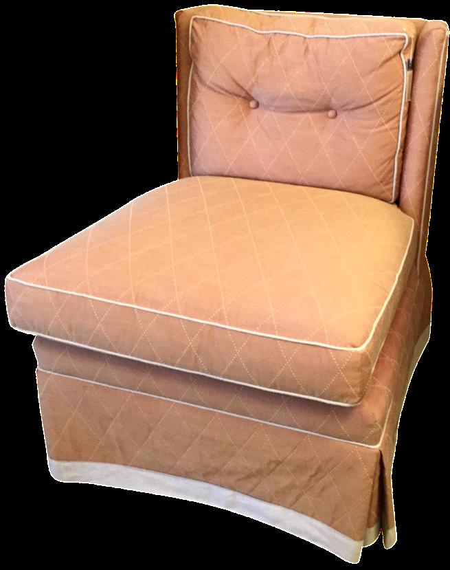Merveilleux Vanguard Orange Slipper Chair For Sale