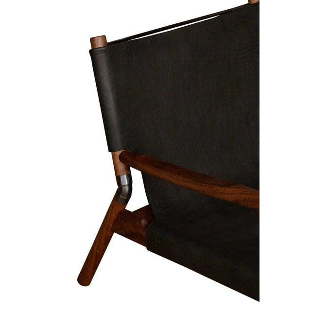 Modern Pair of Erickson Aesthetics Oak Lounge For Sale - Image 3 of 5
