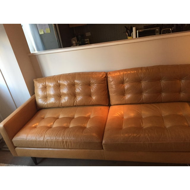 Strange Crate Barrel Petrie Leather Sofa Pabps2019 Chair Design Images Pabps2019Com