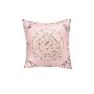 """""""Mors Et Gourmettes"""" Hermès Silk Scarf Pillow For Sale"""
