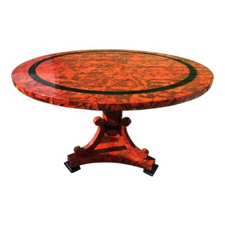 Enrique Garcel Red Lacquered Cork Table by Jimeco For Sale