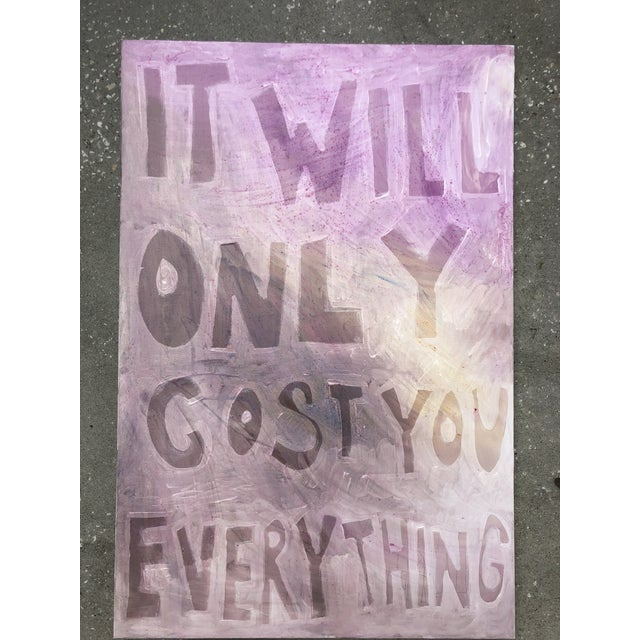 """""""It Will Only Cost You Everything"""" painting by Virginia Chamlee. Made of a mix of acrylic, gouache, and dye on canvas, in..."""
