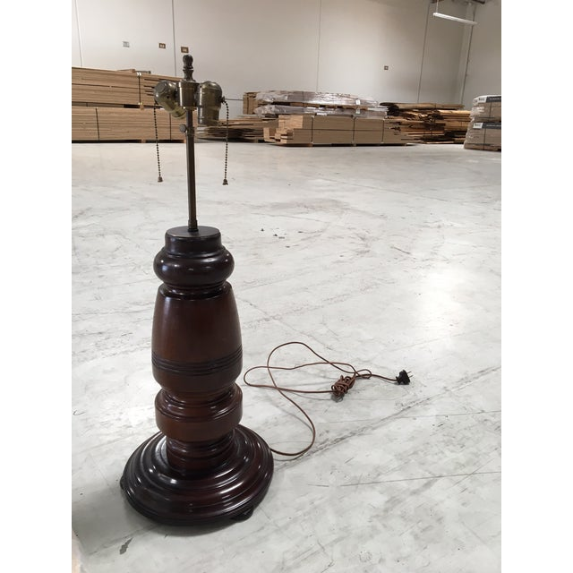 Circa 1890 Mahogany Table Lamp - Image 2 of 7