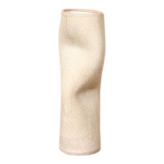 Organic Modern Sculptural Extruded Ceramic Stem Vase