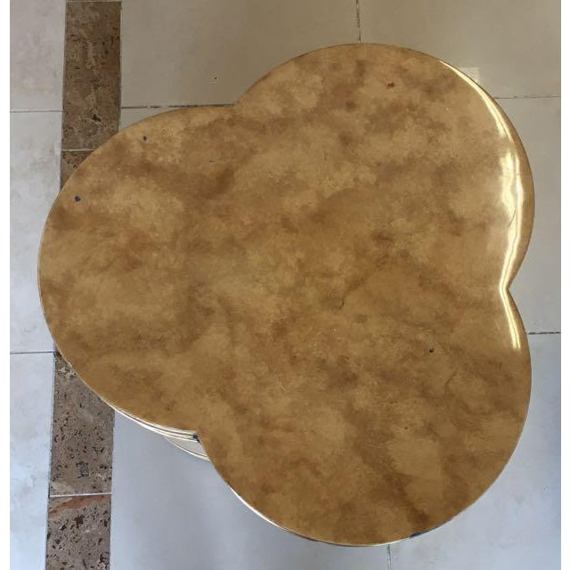 1970s Mid-Century Modern Mastercraft Bernard Rohe Decorated Drum Table For Sale In Tampa - Image 6 of 13