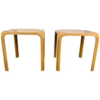 Vintage Fan Leg Stools or Tables by Alvar Aalto for Artek - a Pair For Sale