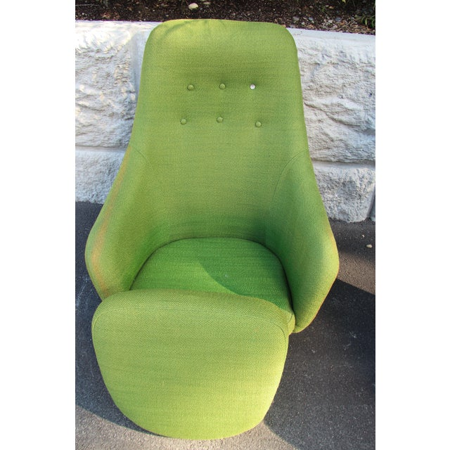 1950s Vintage Mid-Century Modern Viko Baumritter High Back Swivel Chairs S/2 For Sale - Image 9 of 11