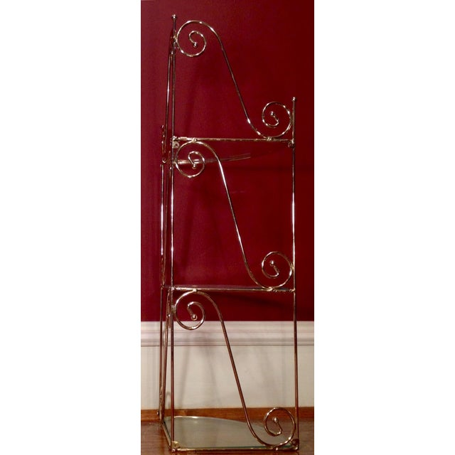 Mid-Century Modern Brass & Glass Shelf - Image 3 of 6