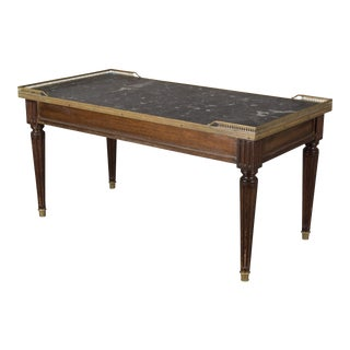 Louis XVI Style Mahogany Coffee Table For Sale