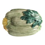 Image of Vintage Italian Faience Zucchini Box For Sale