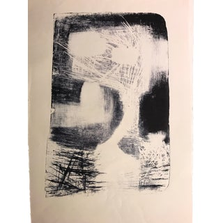 1940-50s Abstract Stone Lithograph Attr. Jerry Opper For Sale