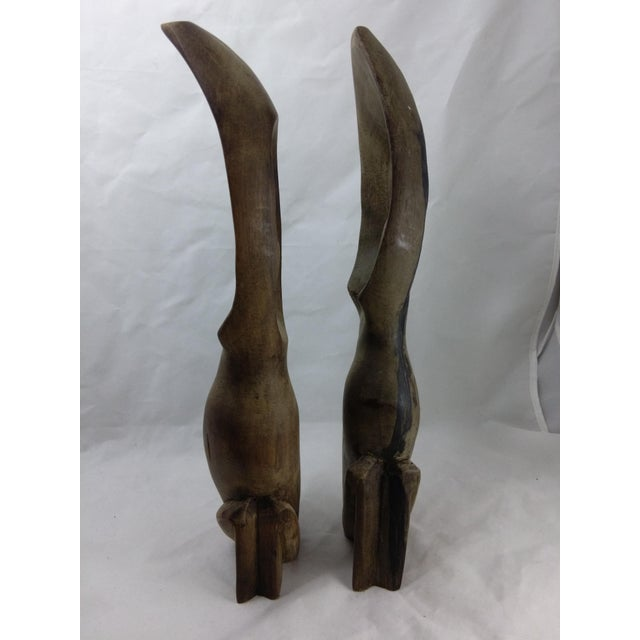 Primitive African Wood Carved Sculptures - Pair - Image 7 of 11