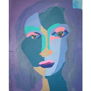 """Contemporary Abstract Portrait Painting """"Wanna Dance"""" For Sale"""