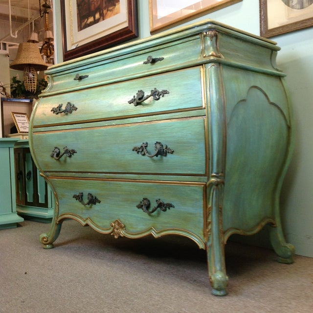 Large Light Green Painted Chest - Image 2 of 8