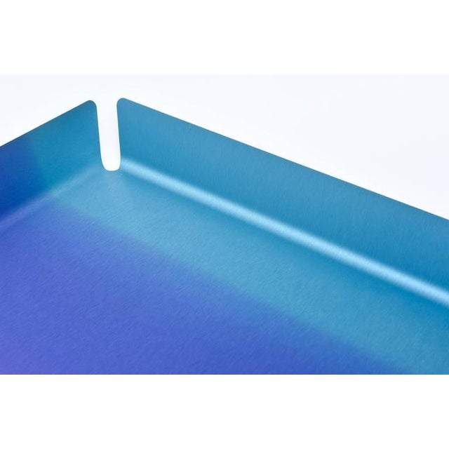 Limited Edition Art Basel Anodized Aluminum Serving/Bar Tray For Sale - Image 4 of 9