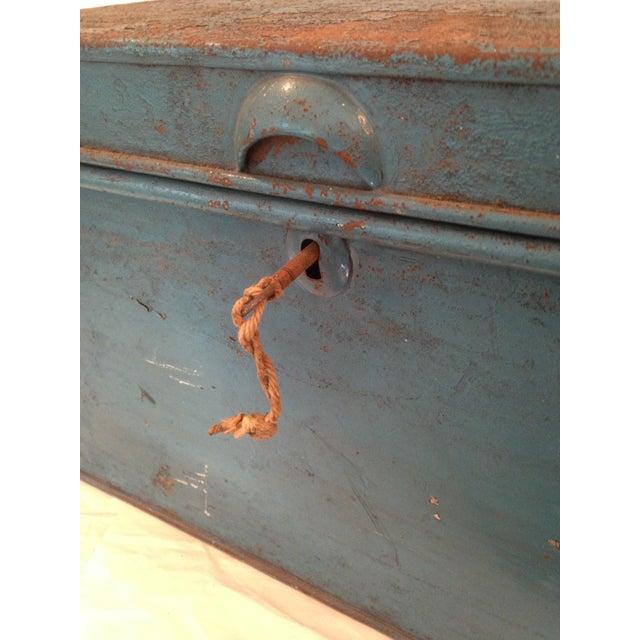 Vintage Metal Locking Box - Image 5 of 8