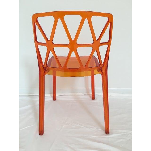 Calligaris Alchemia Dining Chairs in Orange - Set of 12 For Sale - Image 11 of 13