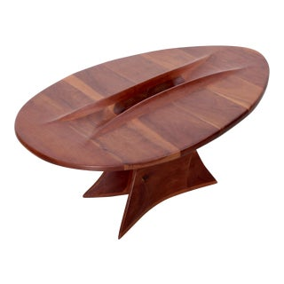 One of a Kind 1970s American Studio Free Form Coffee Table For Sale