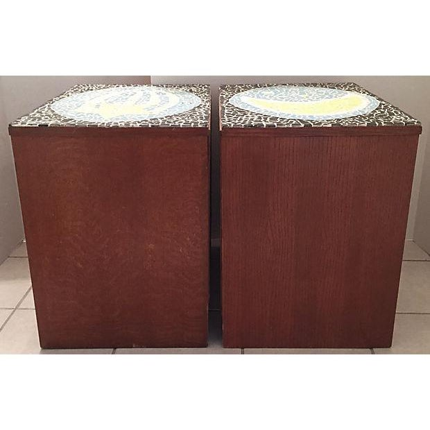 1970's Mosaic Top Nightstands - A Pair - Image 8 of 10