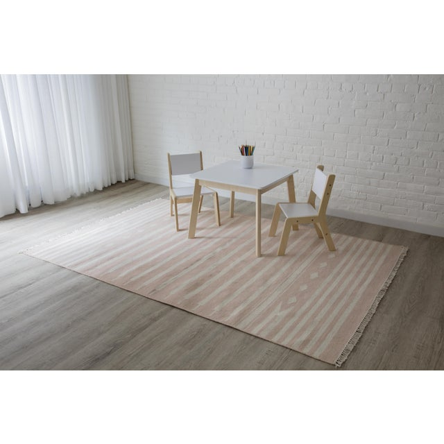 """Textile Erin Gates by Momeni Thompson Billings Pink Hand Woven Wool Area Rug - 3'6"""" X 5'6"""" For Sale - Image 7 of 7"""