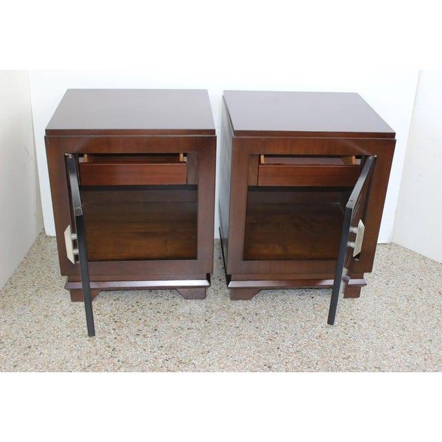 Art Deco 1930s French Art Deco Moderne Night Stands - a Pair For Sale - Image 3 of 13