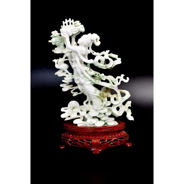 Exquisite Jadeite Jade Fairy Statue For Sale - Image 4 of 13