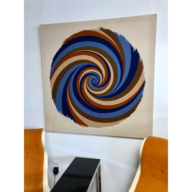 """Curry Melin's """"Hurricane"""" is large, imposing, and bold - just the pop of color your space needs! Circa 1970s."""