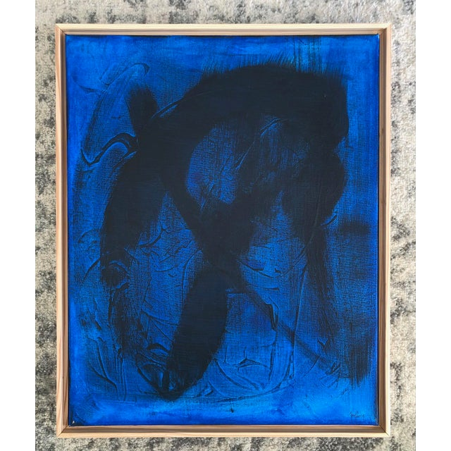 """""""Blue Mirage"""" Abstract Painting by Tony Curry For Sale - Image 4 of 4"""