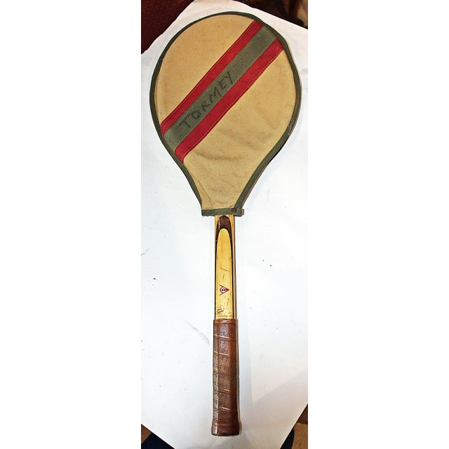Dunlop Vintage 1960s Wooden Tennis Raquet - Image 3 of 5