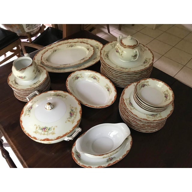 Antique Rare Hinode (Noritake ), Year 1876 Hand Painted China/48 Pieces, Dinnerware. Final Reduction For Sale In Birmingham - Image 6 of 13