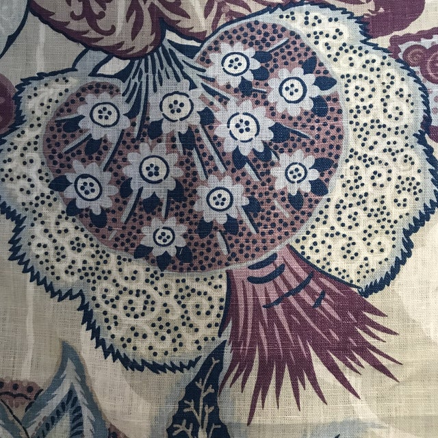 "Schumacher ""Zanzibar"" Hyacinth Linen Fabric - 4 Yards For Sale - Image 9 of 11"