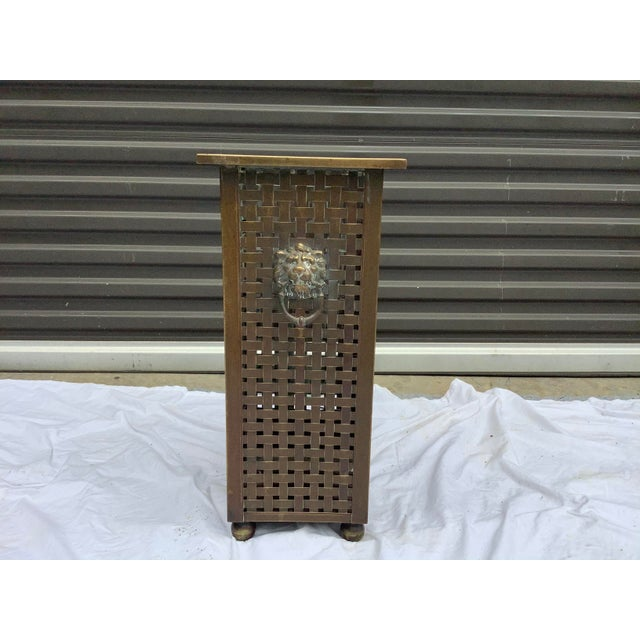 Italian Woven Brass Umbrella Stand For Sale - Image 9 of 9