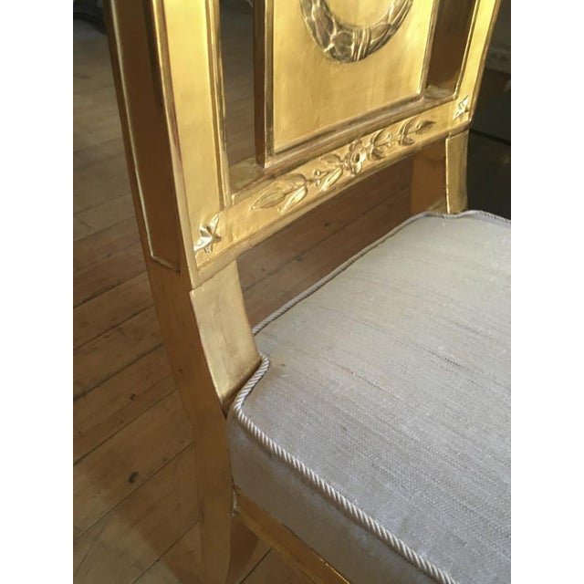 Empire French Empire Very Long Gold Leaf Carved Wood Bench For Sale - Image 3 of 8