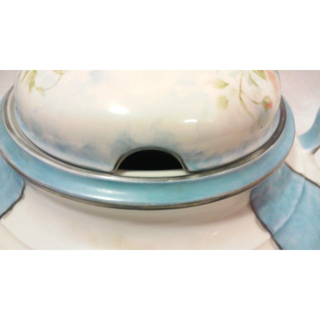 Art Deco Hand Painted Bavarian Porcelain Soup Tureen - Image 9 of 10